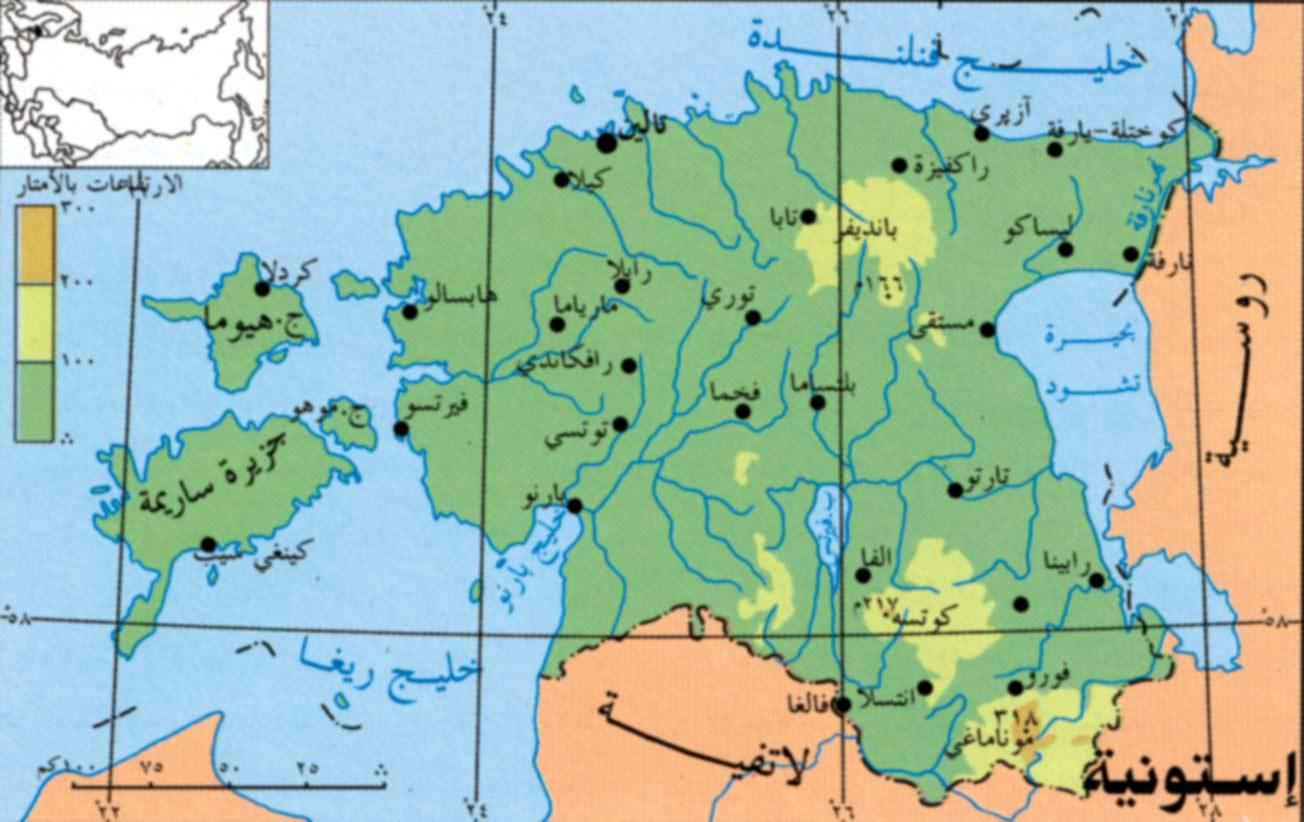 استونيا خريطة