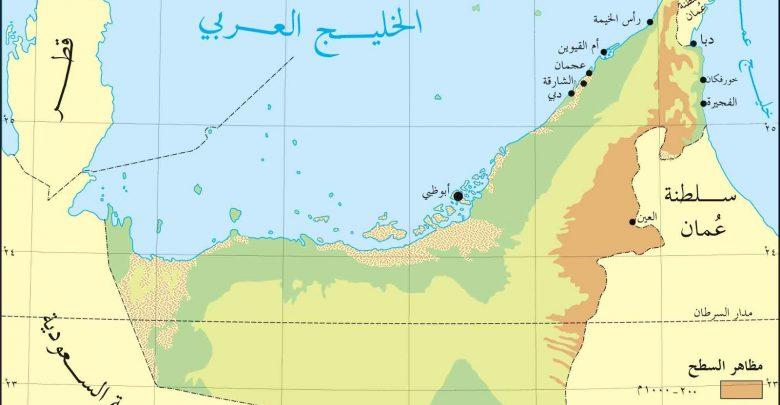 خريطة الامارات ويكيات