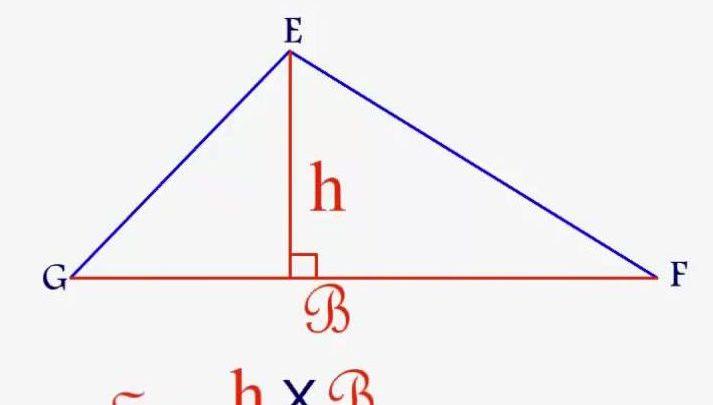 قوانين مساحة المثلثات
