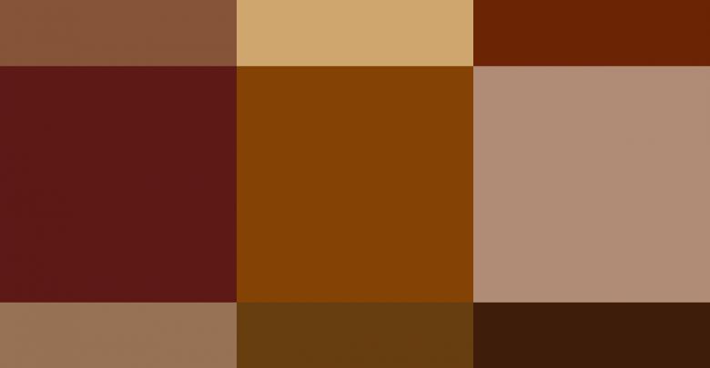 الالوان التي تتتاسب مع اللون البني ويكيات